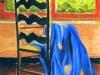 Interno con drappo blu
