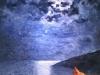 Notturno corsicano. Anno 2016. Dipinto dal vero. Olio su tela. Dim. cm 60 x cm 60. Autore Maestro Alfonso Palma
