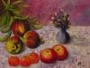 Natura morta con melograni,mandarini e mele