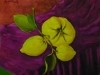 Limoni su tovaglia viola