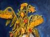 404 Anno 2002. Girasoli appassiti. Dipinto dal vero. Olio su tela.Dim. cm 50 x cm 70. Autore Maestro Alfonso Palma