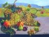 Natura morta con uva, loti e fichi