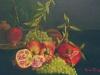 Natura morta con melograni ed uva