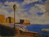 Castel dell'Ovo da pèiazza della vittoria Napoli Italia